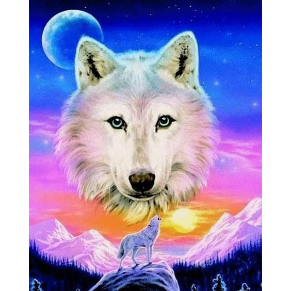 5d Rhinestone Art Special Hot Sale Animal 5d DIY Diamond Painting Wolf Kits VM8514