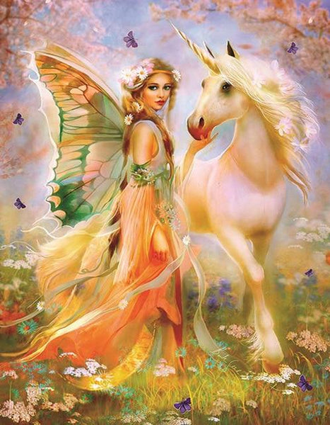 2019 5d Diy Diamond Painting Kits Beautiful Fairy With Horse VM8369