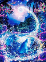 5d Diamond Painting Dream Colorful Night Sky Dolphin Set VM7768