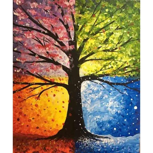 2019 5d Diamond Painting  Kits Four Seasons Tree VM8298