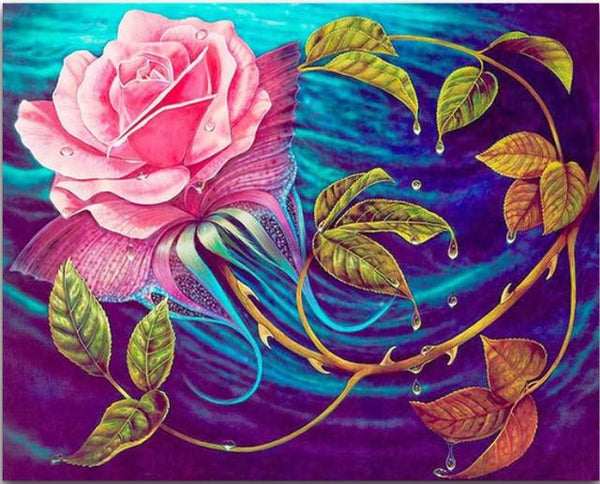 New Arrival Hot Sale Pink Flower 5d Diy Diamond Painting Kits VM79943