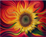Modern Art Sunflower Abstract Patterns 5d Diy Diamond Painting Kits VM79937