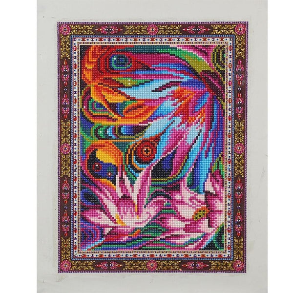 Modern Art Lotus 5D Diy Embroidery Cross Stitch Diamond Painting Kits NA0154
