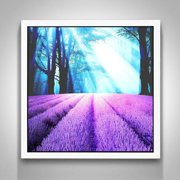 Cheap Lavender Fields 5D Diy Embroidery Cross Stitch Diamond Painting Kits NA0045