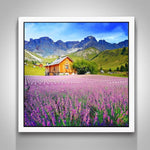 New Full Drill Lavender Fields Nature 5D Diy Cross Stitch Diamond Painting Kits NA90043