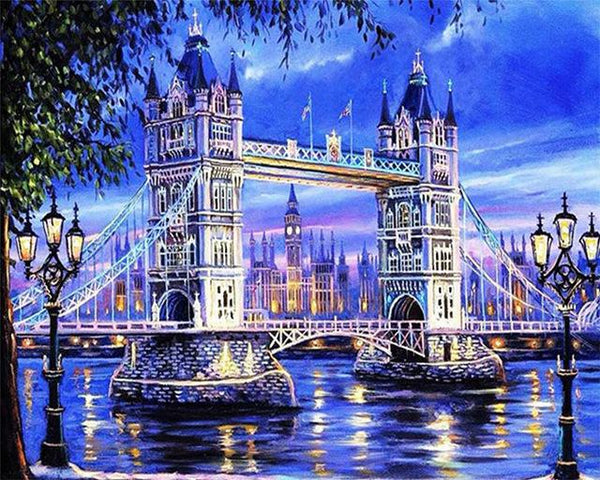 2019 5d Diamond Painting Set Landscape Bridge Picture Diy VM70087