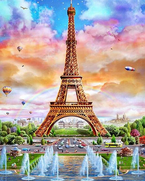 2019 5d Diamond Painting Set Eiffel Tower Picture Diy VM20086