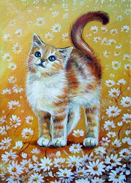Oil Painting Style New Arrival Cat Decor Diy 5d Diamond Painting Set VM20077