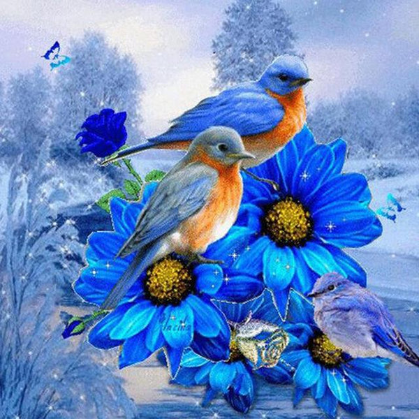 5d Diamond Painting Kits Bird On Branch Watercolor VM29057