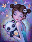 2019 5d Diy Diamond Painting Kits Girl And Panda VM9838