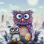 2019 5d Diy Diamond Painting Kits Funny Owl VM7404