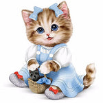 2019 5d Diy Diamond Painting Kits Fashion Cartoon Cute Little Kitten VM9803