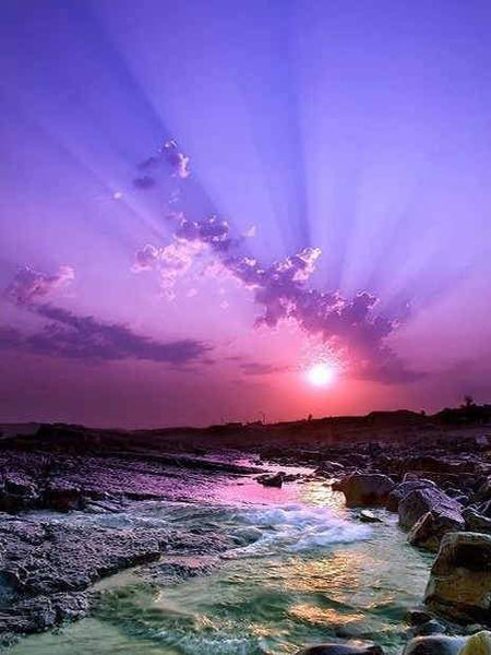 2019 5d Diy Diamond Painting Kits Purple Beach Sunset VM9670