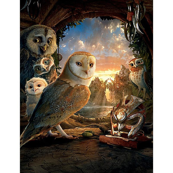 5D DIY Diamond Painting Kits Cross Stitch Owl Kingdom VM92195