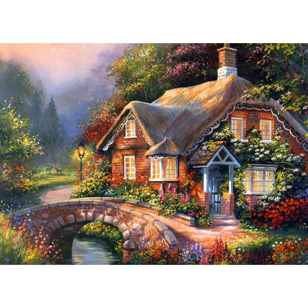5D DIY Diamond Painting Flower House Embroidery Cross Stitch Kits VM90583