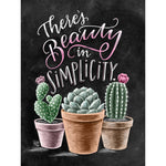 5D Diy Diamond Painting Kits Cartoon Blackboard Plant Cactus NA01344