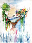 Fantasy Deer 5D DIY Embroidery Cross Stitch Diamond Painting Kits NA0821