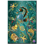 Full Square Drill Seahorse 5D Diy Special Cross Stitch Diamond Painting Kits NA0307