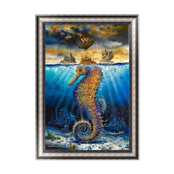 Dream Seahorse 5D Diy Embroidery Cross Stitch Diamond Painting Kits NA0304