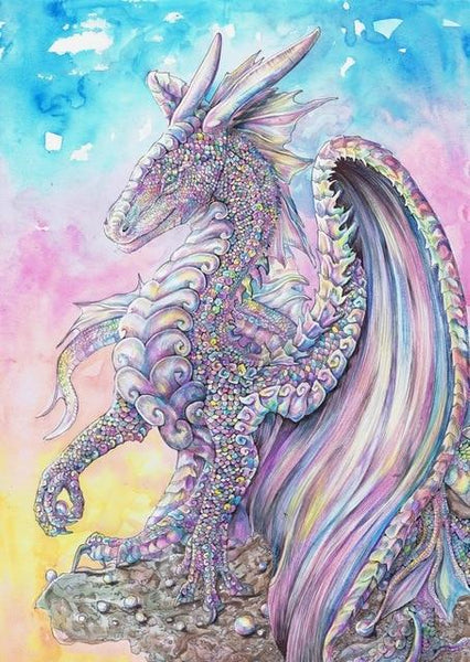 Fantasy Dragon 5D DIY Embroidery Cross Stitch Diamond Painting Kits NA088