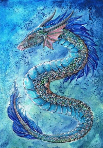 2019 5D DIY Diamond Painting Kits Blue Dragon NA090