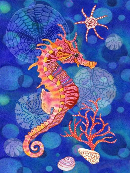 5D Diy Diamond Painting Kits Cartoon Seahorse NA0359