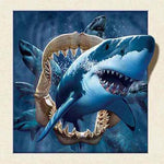 2019 5d Diy Diamond Painting Kits Cartoon Shark NA0390
