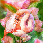2019 5D DIY Diamond Painting Kits Watercolor Square Drill Flamingo NA0373