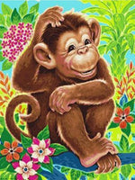 5d Diy Diamond Painting Kits Cartoon Monkey NA0521