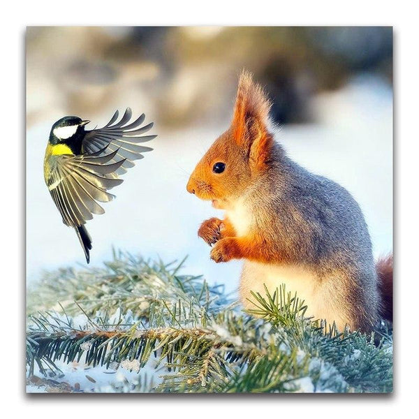 For Beginners Full Square Drill Squirrel 5d Diy Diamond Painting Kits NA0457