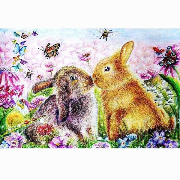 Dream Full Drill Rabbit 5D Diy Cross Stitch Diamond Painting Kits NA0248