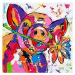 Full Square Drill Pig 5D Diy Watercolor Diamond Painting Kits NA0197