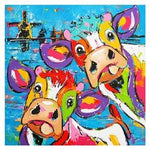 Oil Painting Style Cow 5D Diy Embroidery Cross Stitch Diamond Painting Kits NA0193