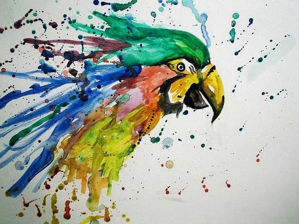 5D Diy Diamond Painting Kits Watercolor Special Cute Parrot NA0091