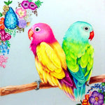 5D Diy Diamond Painting Kits Special Full Square Drill Cute Parrot NA0083