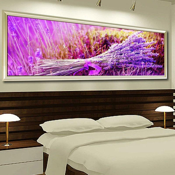 Full Drill Lavender Large Size 5D Diy Embroidery Diamond Painting Kits NA0050