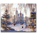 5D Diy Diamond Painting Kits Snow Castle NA0021