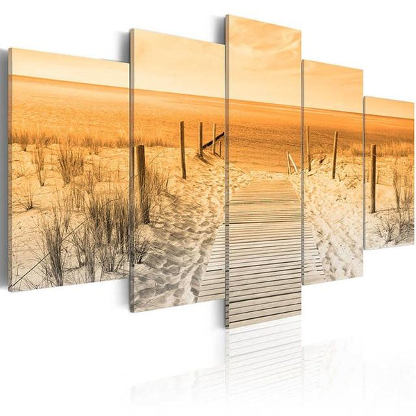 5D Diy Diamond Painting Kits Mosaic Beach Grass VM92267