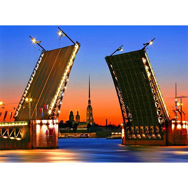 2019 5D Diy Diamond Painting Kits Cross Stitch Winter Palace Bridge NA0774