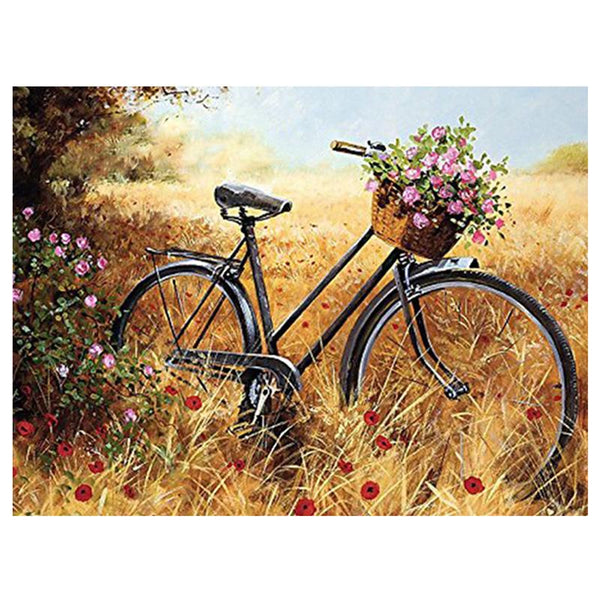 2019 5D DIY Diamond Painting Landscape Wild Bike VM77100