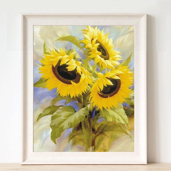 2019 5D Diy Diamond Painting Kits Cross Stitch Sunflower VM92354