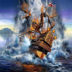 2019 5D DIY Diamond Painting Kits Oil Painting Pirate Ship NA0614