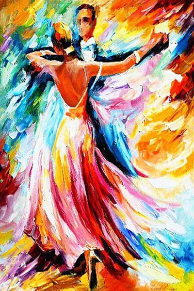 Oil Painting Style Dancer 5d Diy Cross Stitch Diamond Painting Kits NA0928