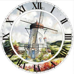 5d Diy Diamond Painting Kits Special Windmill Clock NA0978