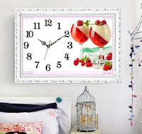 2019 5D DIY Diamond Painting Embroidery Wall Fruit Clock NB0307
