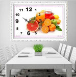 2019 5D DIY Diamond Painting Embroidery Wall Fruit Clock NB0306