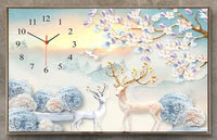 2019 5D DIY Diamond Painting Kits Wall Flower Clock NB00308