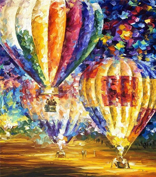 Oil Painting Style Hot Air Balloon 5D DIY Diamond Painting Cross Stitch Kits NA0638