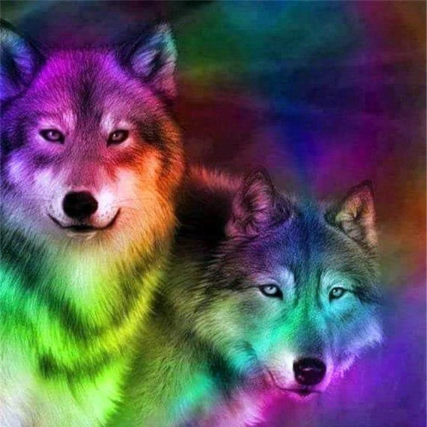 2019 5D DIY Diamond Painting Cross Stitch Kits Color Wolf VM88848