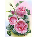 5D Diy Diamond Painting Kits Rhinestones Mosaic Pink Flower VM92203